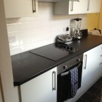 Kitchen area at house share in Fallowfield, Manchester
